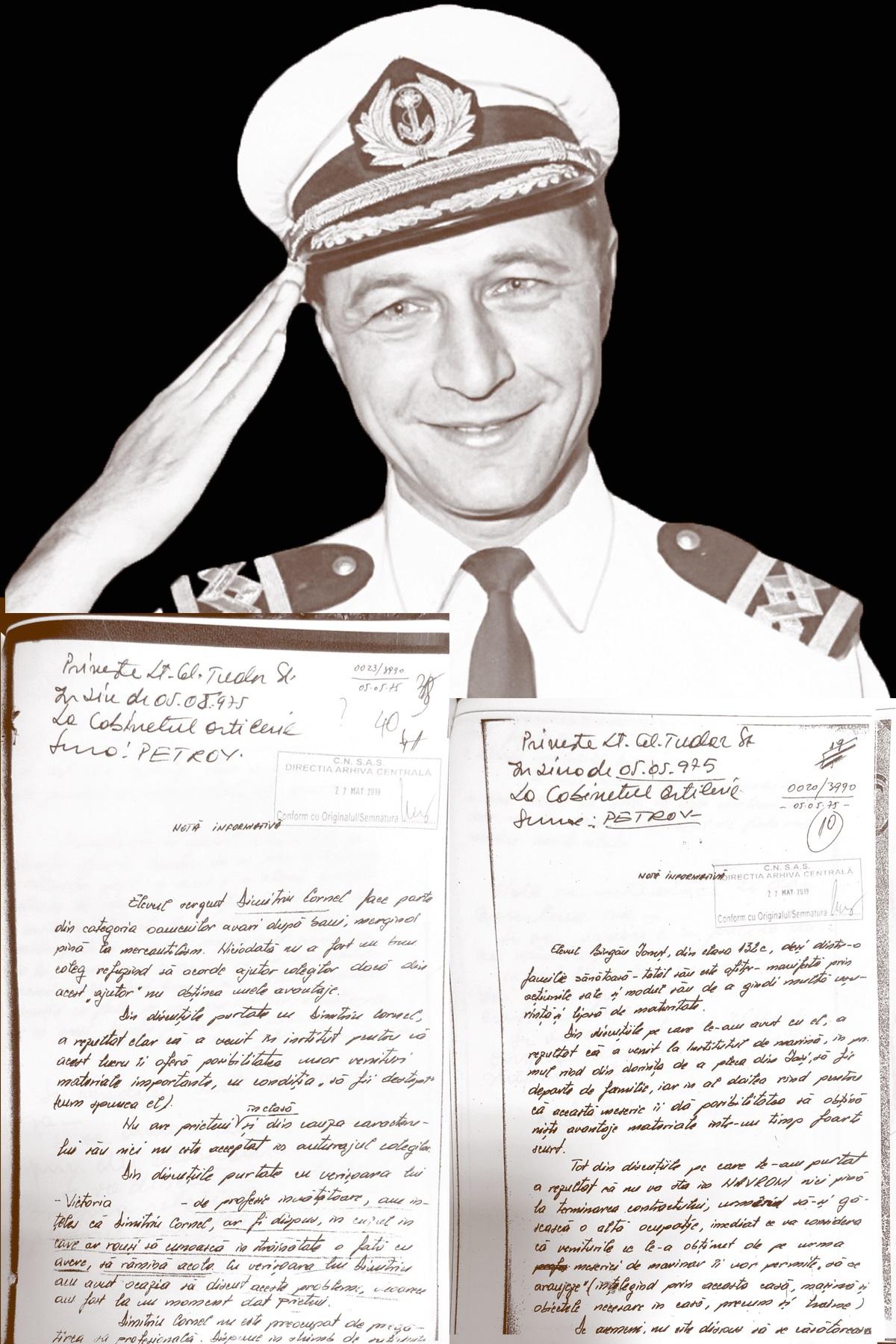 Notele date de Băsescu la Securitate – Grupul de Investigatii Politice